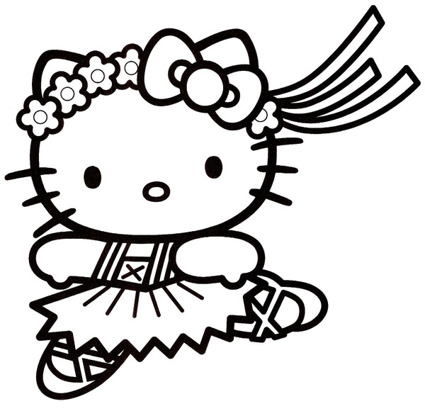 Coloriage hello kitty 16 - Hello kitty a colorier ...