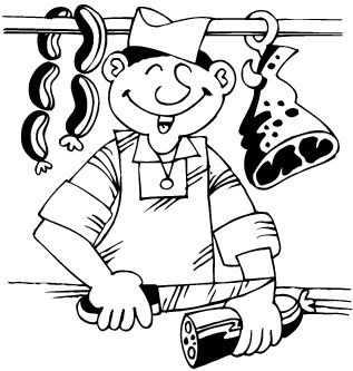 Dessin Boucher coloriages bouchers et viande - page 3