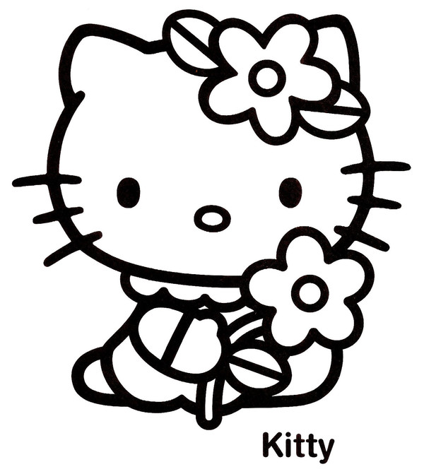 Coloriage Fleur Hello Kitty.Coloriage Hello Kitty 14