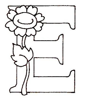 Coloriage Alphabet Fleur.Alphabet Fleurs A Colorier Idee D Image De Fleur