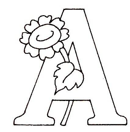 Coloriage Alphabet Fleur.Alphabet Fleur Paquerette