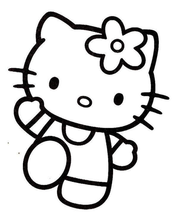 Coloriages hello kitty - Coloriage hello kitty jeux ...