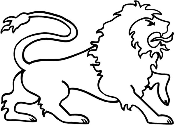 Coloriages animaux lions - Coloriages lion ...