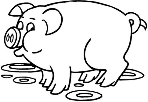 Coloriages animaux cochons sangliers - Cochon a dessiner ...