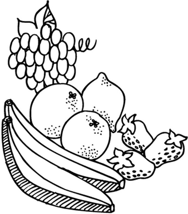 Coloriages fruits et legumes - Fruits coloriage ...