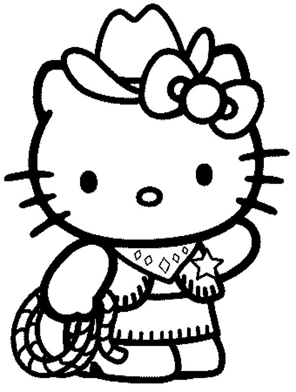 Coloriage hello kitty - Hello kitty a imprimer ...