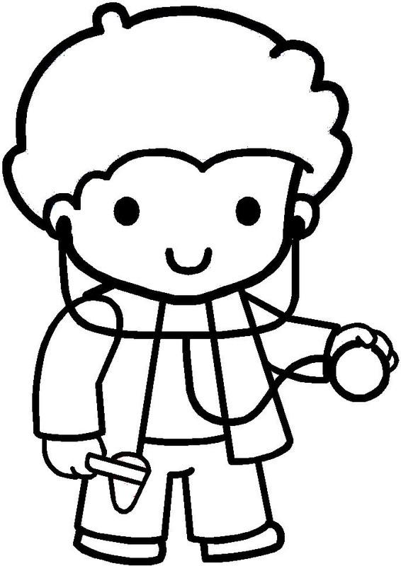 Coloriages personnages et metiers - Coloriage docteur ...