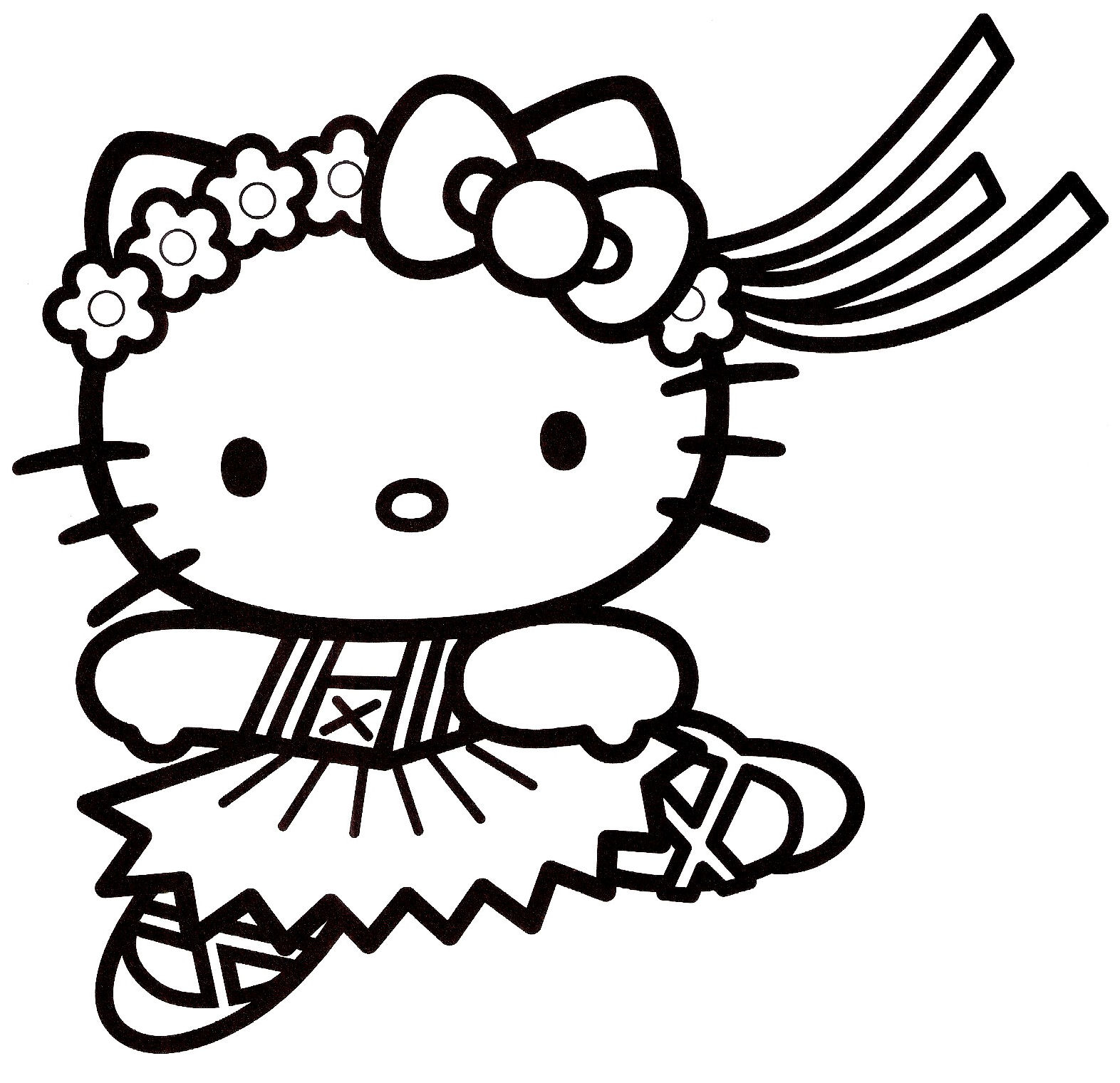 coloriage hello kitty 16