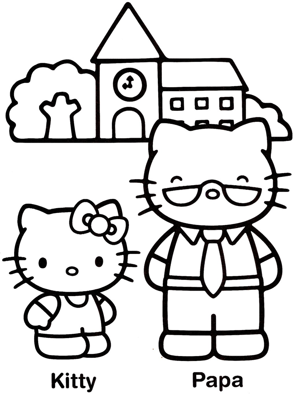 Coloriages hello kitty - Hello kitty jeux coloriage ...