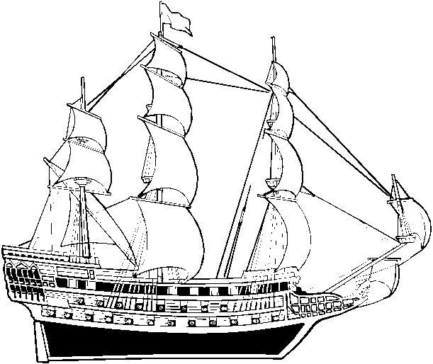 Coloriages bateaux marine marins - Coloriage bateau ...