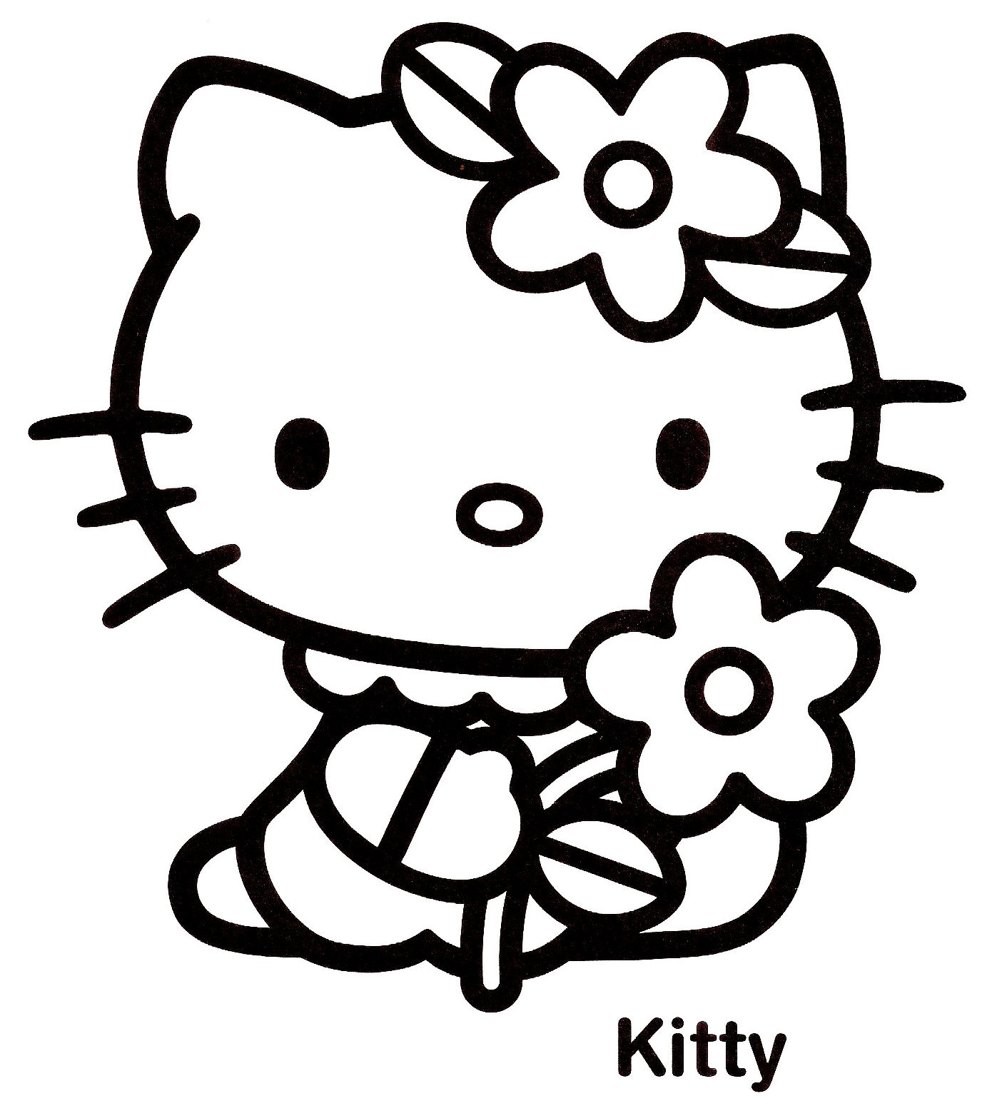 Coloriage hello kitty 14 - Coloriage tete hello kitty a imprimer ...