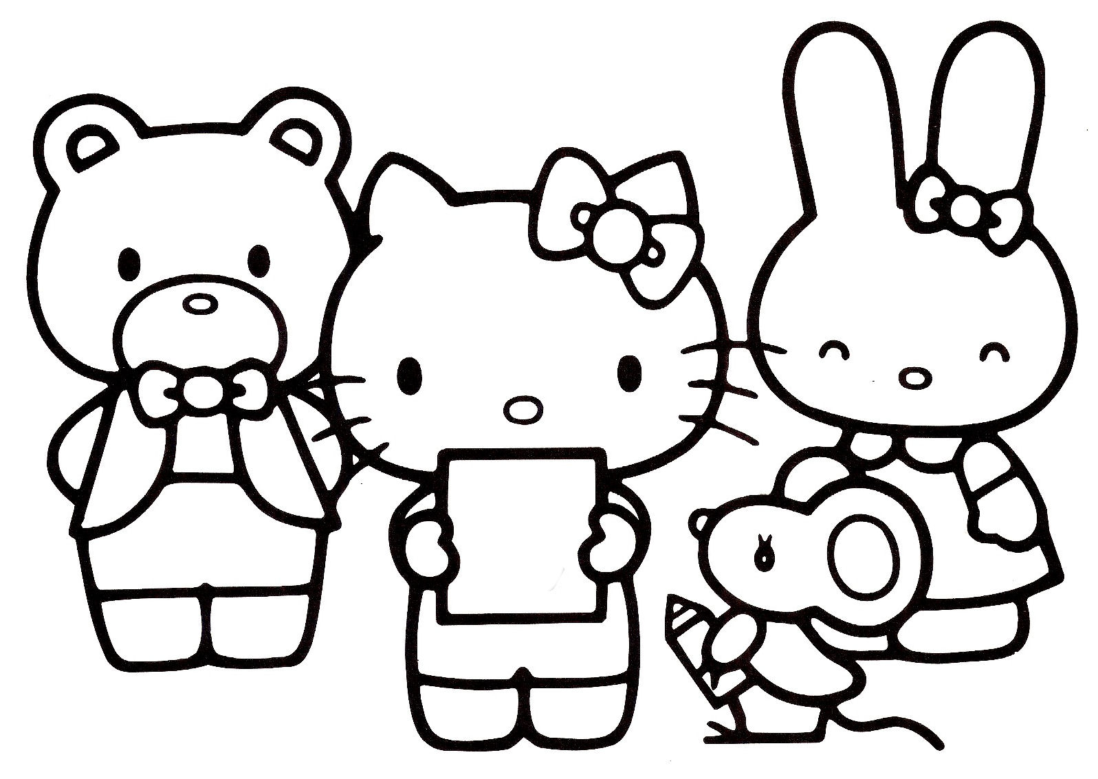 Coloriages hello kitty page 2 for Pics of hello kitty coloring pages