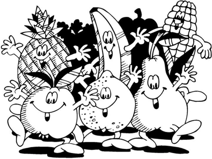 Coloriages fruits et legumes - Dessin de legumes ...